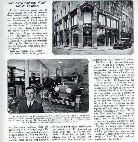 1926 SIB Cadillac Amsterdam I.A.C.
