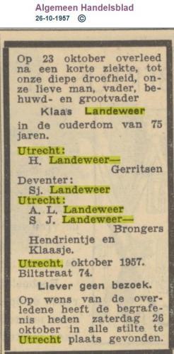 1957 overlijden AH 26-10